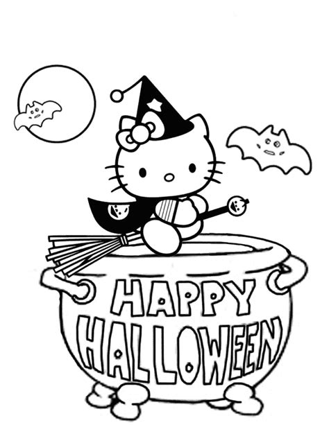 hello kitty zombie halloween coloring pages hello kitty witch coloring page h m coloring pages