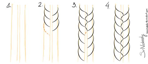 Drawing Of A With Braids by Braids Tutorial Part 1 By Darksirnobody On Deviantart