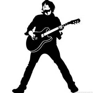 Pacman Wall Stickers wandtattoos muzik wandtattoos silhouette gitarrist