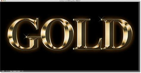 50 sparkling gold effect photoshop tutorials cieneldotnet webmaster tutorials