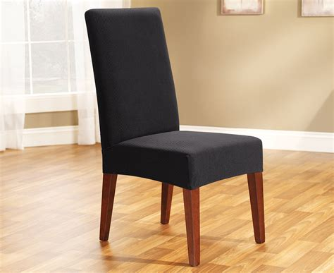 sure fit stretch dining room chair slipcover ebay sure fit stretch dining chair cover ebony ebay