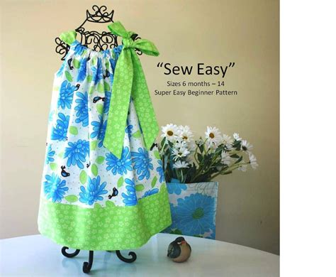 sewing pattern pillowcase sew easy pillowcase dress pattern instant download pdf