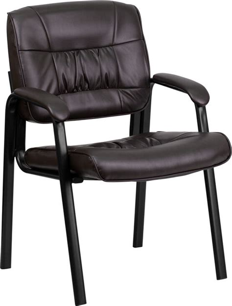 leather guest chair brown leather guest reception chair office waiting room