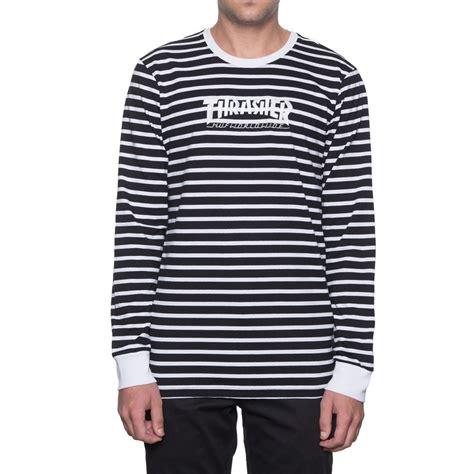 Sweater Thrasher Black Plece Tebal huf x thrasher tour de stoops stripe crew sleeve t