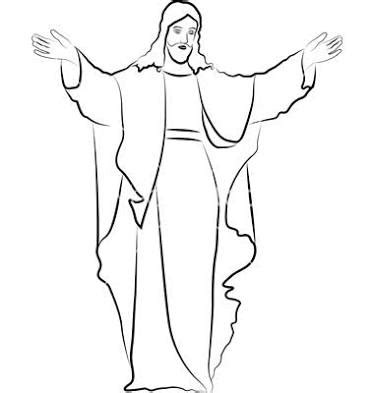 jesus tattoo template image result for jesus outline pictures children s