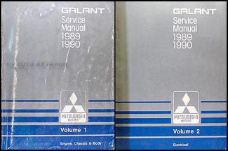 1989 1990 mitsubishi galant repair shop manual set original 1989 1990 mitsubishi galant repair shop manual set original