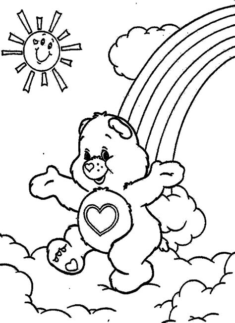 coloring pages kids cartoon coloring for kids care bears coloring pages
