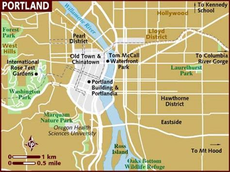portland oregon on the usa map map of portland