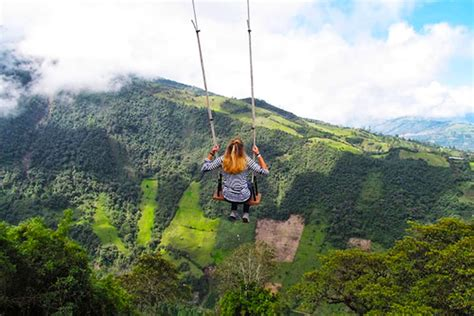 swing in ecuador amazing tiny treehouse boasts the world s wildest swing