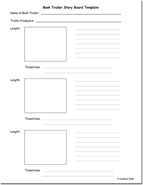 trailer template free printable storyboard templates photos exle