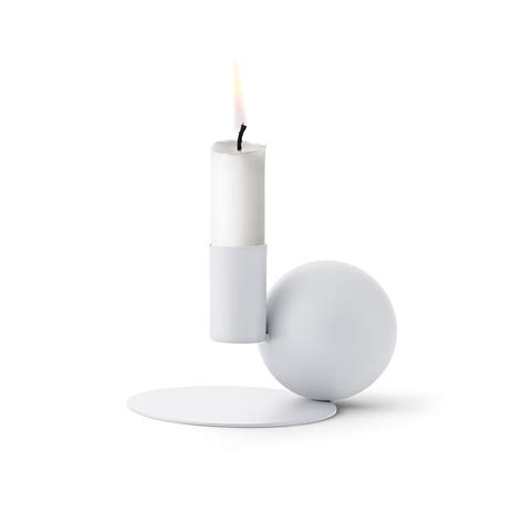 White Candle Tray Menu Optical Candle Holder Homey Oh My
