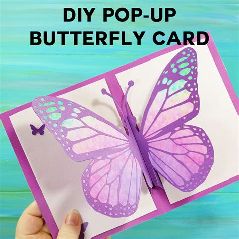 diy s day pop up card template diy pop up butterfly card tutorial easy 5 quot x 7
