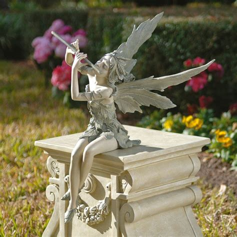 fairy garden statues design toscano fairy of the west wind sitting garden