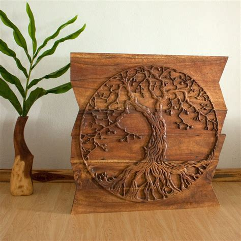 elegant life elegant tree of life wood carving wall art 99 in floral