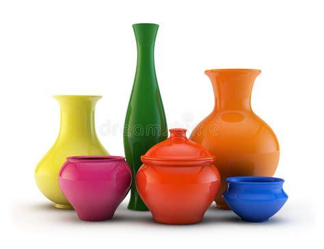 composizione vasi composizione dei vasi di ceramica illustrazione di stock