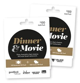 Dinner Movie Gift Cards - dinner movie good food gift card