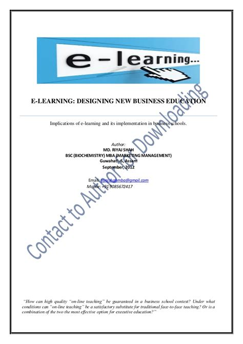 Education Starts At Home Research Paper by Research Paper On E Learning
