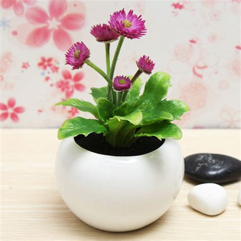 Home And Garden Decorating by Decorative Flowers Potted Planters Artificial Plants