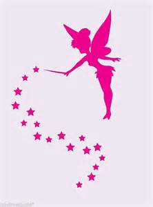Disney Fairies Wall Stickers tinkerbell silhouette with stars wall stickers decal free