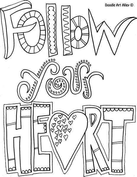 easy love coloring pages quote coloring page follow your heart coloring
