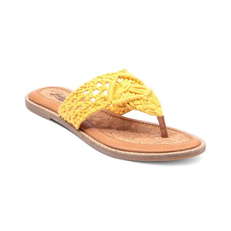 flat yellow sandals lucky brand barry flat sandals in yellow lyst