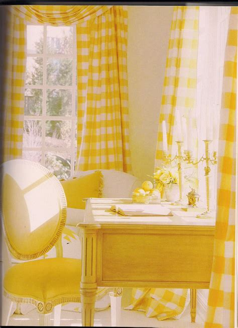 yellow check curtains buffalo check curtains for the office