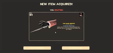 Sharp Dresser by Team Fortress 2 Crafting 1 Knife Sharp Dresser