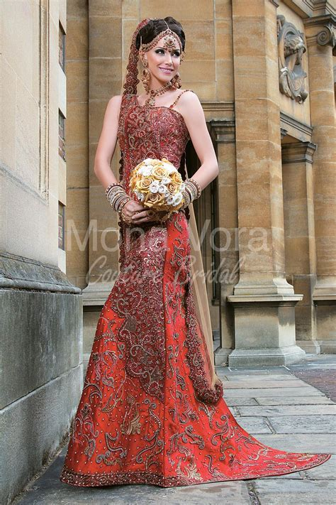 Bridal Wear by Item Code Br008 Asian Bridal Wear Fusion Dresses By