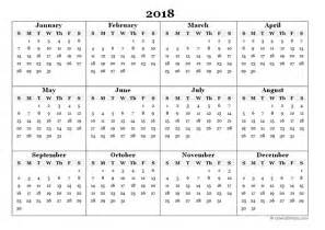 Printable Yearly Calendar 2018 2018 Blank Yearly Calendar Template Free Printable Templates