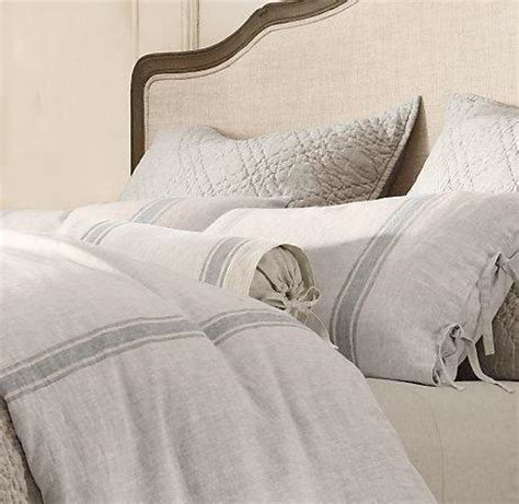 Restoration Hardware Linen Sheets Belgian Linen Provence Stripe Bedding Restoration Hardware