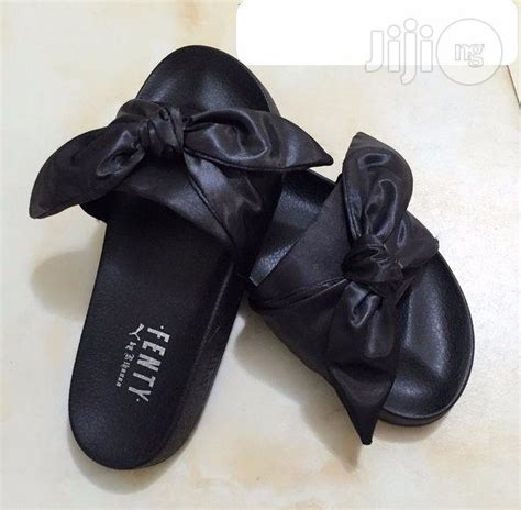Fenty Bow Black Sandal fenty s bow slide sandals black for sale in surulere buy shoes from wardrobecare