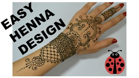 how to draw henna tattoos easy henna tutorial