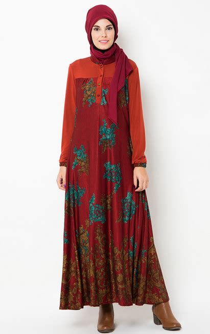Gamis Wanita Selutut model baju wanita terbaru trend gaya masa kini gaya masa