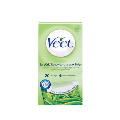 Eksklusif Spesial Hijau Veet Wax Strips With Aloe Vera Lotus Flo veet cold wax skin 20 reviews