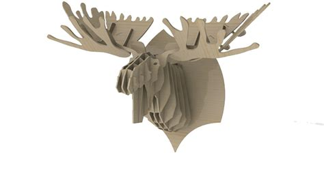 1000 images about trophy head mount 3d puzzles on faux moose head wild makecnc com