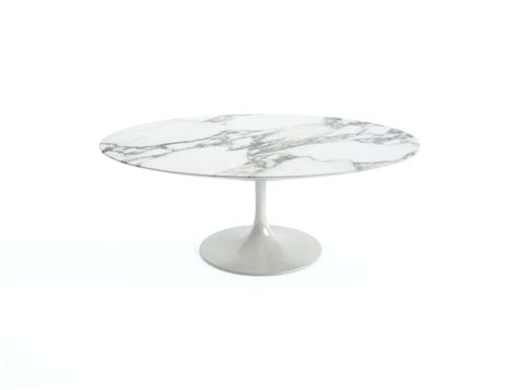 Saarinen Low Oval Coffee Table Knoll Saarinen Tulip Oval Coffee Table With White Base And