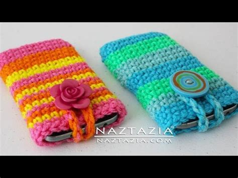 diy pattern holder diy learn how to crochet easy cell phone tablet case cover