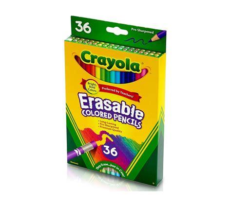 crayola erasable colored pencils erasable colored pencils 36ct coloring set crayola