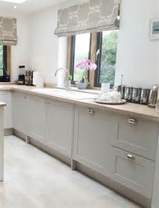 Farrow And Ball Kitchen Cabinets Modern Country Style Shaker Kitchen With Cabinet Doors
