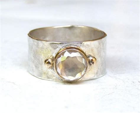 Handmade Silver Rings With Gemstones - handmade engagement ring 14k gold ring silver ring