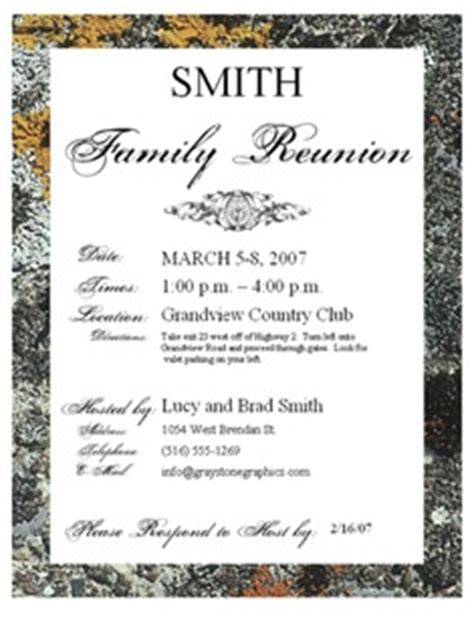 family reunion book template printable exle of family reunion program grand rapids