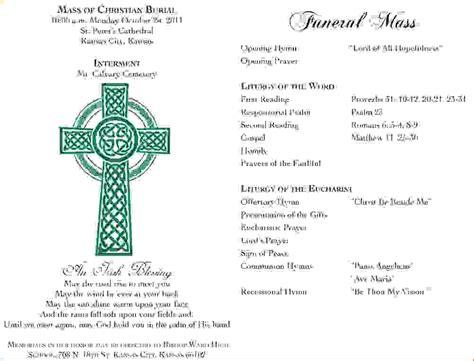 9 funeral mass programagenda template sle agenda