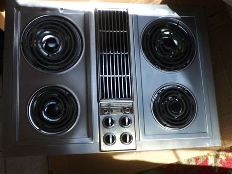 electric jenn air cooktop jenn air electric cooktop with center downdraft model