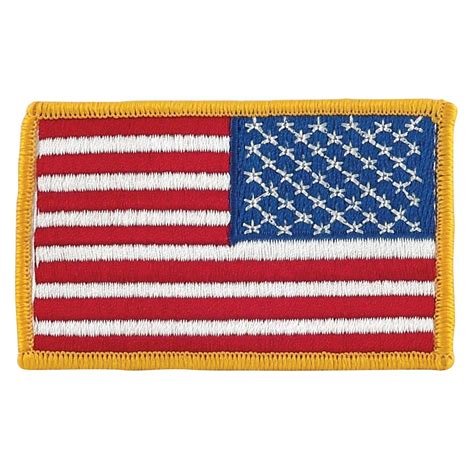 american flag patch right hand version
