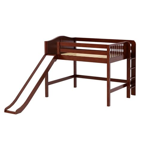 platform bed in chestnut with curved bed ends by maxtrix 200 maxtrixkids pretty cc mid loft bed with straight