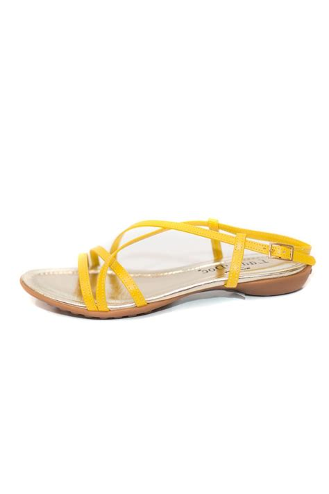 yellow strappy sandals doc leather strappy yellow sandal from south