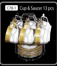 Cup Saucer Segi Delapan C78 1 Motif Camelia Vicenza Tea Set Elegan cangkir set vicenza c78 1 vicenza karawang
