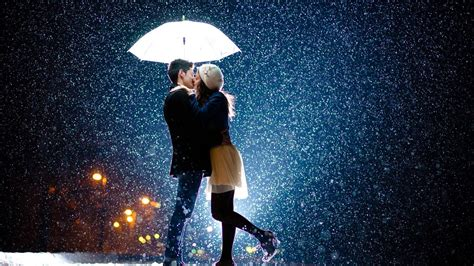 couple wallpaper with rain love couple kiss snow rain umbrella hd pics large hd
