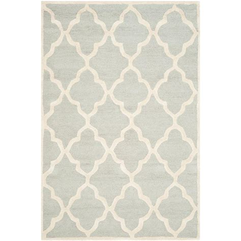 safavieh grey rug safavieh cambridge light gray ivory 5 ft x 8 ft area rug cam312l 5 the home depot