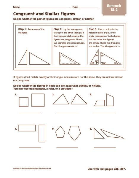 Similar And Congruent Figures Worksheet by Congruence 15 4 Worksheet Practice